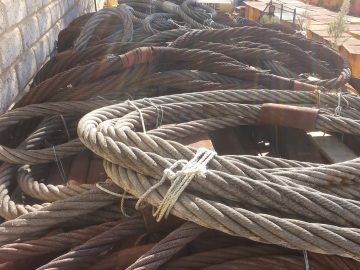 Assortment Heavy Wire Ropes